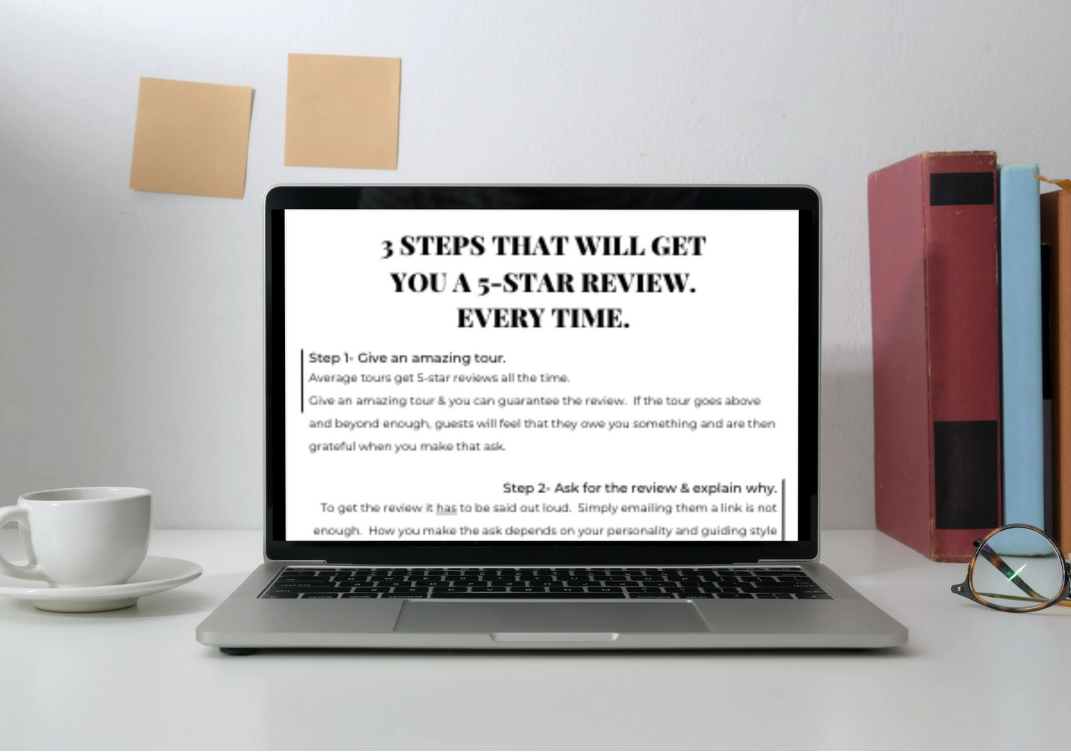Image of free PDF- How to get 5-star reviews
