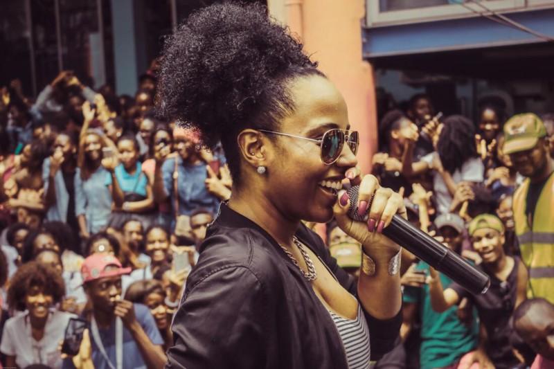 Black female tour guide